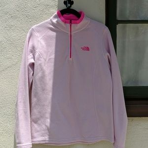 North Face Pink Fleece Pullover